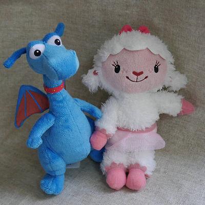 Set Of 2 Doc Mcstuffins Friend Lambie   Stuffy 7  Stuffed Doll Plush