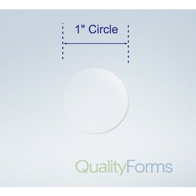 1000 Clear 1 Inch Round Circle Wafer Sticker Labels. Package Seal Tab Roll Ship