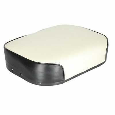 Seat Cushion Vinyl White With Black Trim Compatible With International 460 560