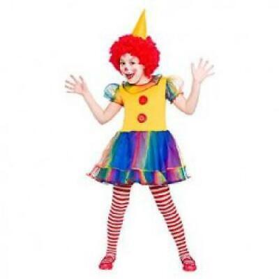Girls Little Clown Fancy Dress Up Party Costume Halloween - Little Girl Clown Costumes