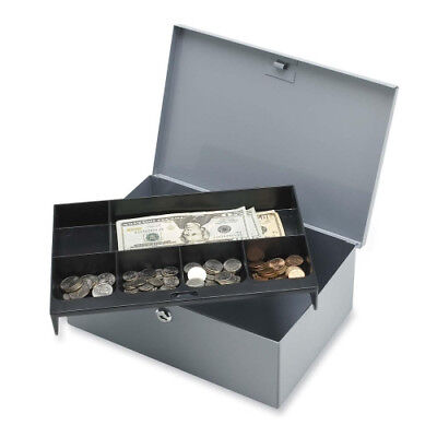 Sparco All Steel 6-compartment Tray Cash Box 15503