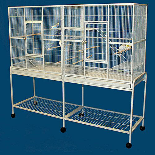 "64"" LARGE Double Flight Breeding Canaries Cockatiel Glider LoveBirds Cage 269"