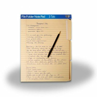 Find It File Folder Note Pad - 1 Each - Manila Paper Ft07210