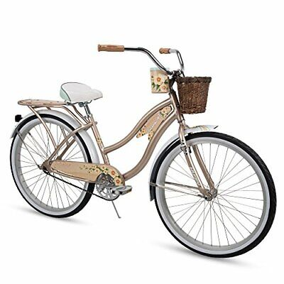 "Huffy 26"" Panama Jack Beach Cruiser Bike, 26 inch Champagne"