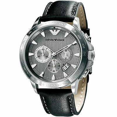 ** NEW **Emporio Armani® watch AR0635 , Dark silver , mens CHRONOGRAPH