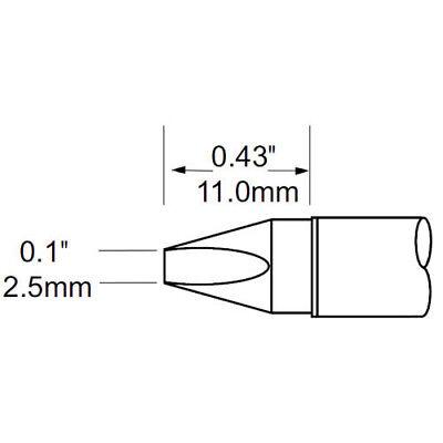 Sfv Series - Metcal SFV-CH25 SFV Series .1in. x .43in. Fiber Glass Chisel Cartridge