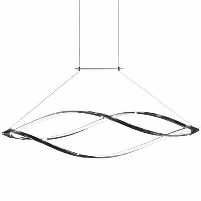 Led Horizontal Pendant With Swooped Arms