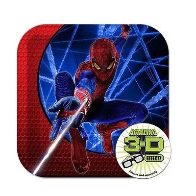 Spiderman Plates Birthday Party Paper 8 Pack 3D Hallmark Square 7