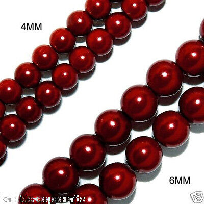 MAGNETIC HEMATITE STONE BEADS PEARL DARK RED 4MM HIGH POWER BEAD STRAND HPR1 Ruby Drop Beads