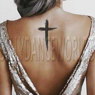 1 SET of 3 Stylish Christian Cross temporary tattoo Jesus God Spiritual tattoos