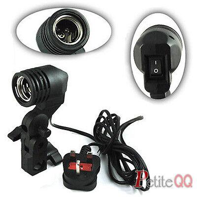 E27 Single Bulb Light Lamp Holder Socket Photo Flash Umbrella Bracket Mount UK