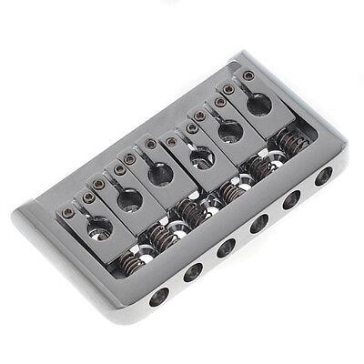 6 Cuerda Hardtail Duro Cola Puente Fijo Para Guitarra Eléctrica Partes Cromo