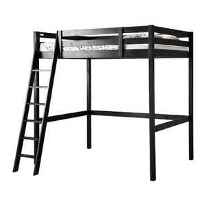 Double loft bed STORA with mattress