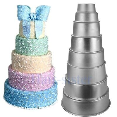 cake pan sizes for wedding cakes 8 sizes wedding cake decorating baking tins pan 12300