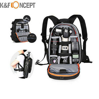 K&F Concept Camera Backpack Bag Waterproof for Canon Nikon DSLR Cost-free Rain Cover