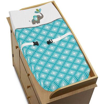 Jojo Changing Table Pad Cover For Modern Elephant Jungle Crib Baby Bedding Set