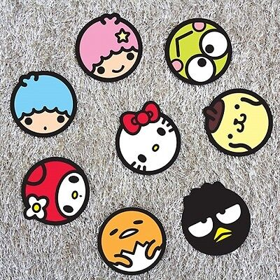 Sanrio Character Coasters Set [8 pcs] Hello Kitty Ornaments Paper Coasters Korea