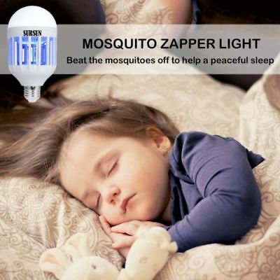 2 Pack Bug Zapper Outdoor Indoor Light Bulb Insect Killer Electric Mosquito Trap