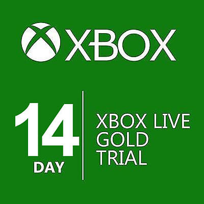 Xbox Live 14 Day  2 Weeks  Gold Trial Membership Quick Delivery