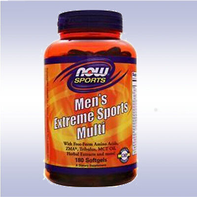 Now Foods Men's Extreme Sports Multivitamin Softgels, 180 Co