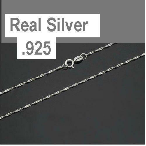 Jewellery - .925 Sterling Silver 1.2mm ROPE Chain Necklace for Pendants *Wholesale Prices*