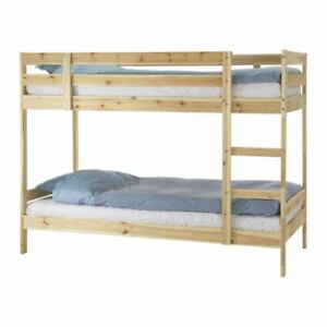Ikea solid pine bunk bed single over double