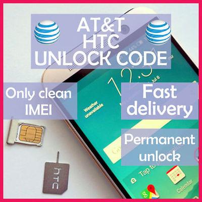 UNLOCK SERVICE CODE FOR AT&T HTC ONE X S V M7 M8 M9 DESIRE 601 510 320
