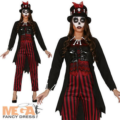 Voodoo Lady Ladies Fancy Dress Witch Doctor Skeleton Halloween Adults Costume - Witch Doctor Fancy Dress Kostüm