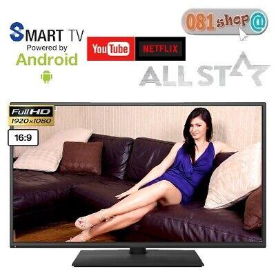 "ALL STAR ASTV40S Televisore 40"" Pollici ANDROID SMART TV LED FULL HD DVB-T2"