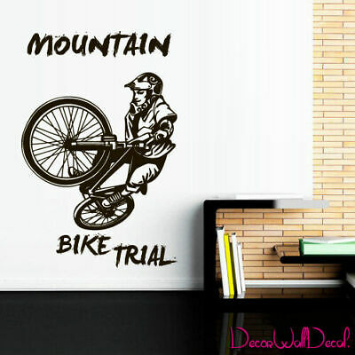 Wall Decal BMX Rider Sticker Bike Bicycle X Games Racing Cycle Jump Teen M1643 for sale  Virginia Beach