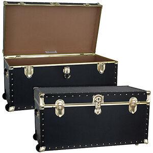 Mercury Luggage Seward Trunk Wheeled Storage Footlocker, 31