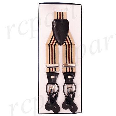 New Y back Men's Vesuvio Napoli Suspenders Braces clip on be