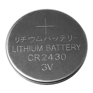Batteries CR2430 Lithium 3 volts NEUF/NEW