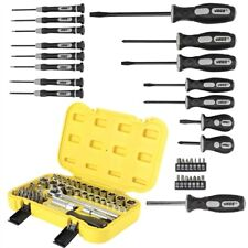 JEGS 81565K Socket & Screwdriver Set 82-Piece Includes: (34) Power Bits (27) Soc