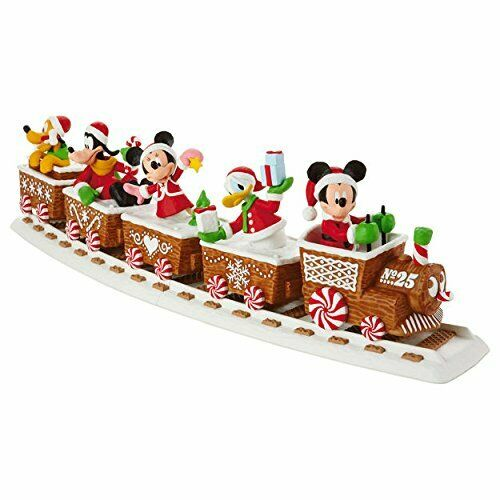2016 Hallmark Disney Christmas Express Set of 5 with Tracks Mickey Minnie Mouse