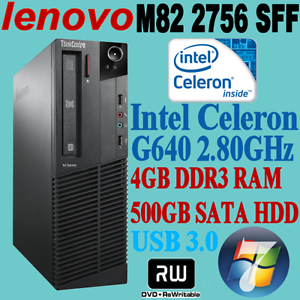 LENOVO ThinkCentre M82 2756 Celeron G640 2.8GHZ 4GB 500GB WIN-7 Nunawading Whitehorse Area Preview