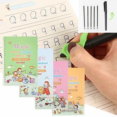 4Pcs English Magic Practice Copybook Calligraphy Copybook Set for Kids Workbook