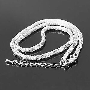 """18"""" Round Silver Chains Wholesale Necklaces"""