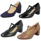 Clarks Block Heel Patent Leather Heels for Women