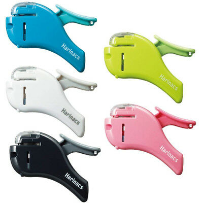Stapleless Stapler Harinacs Compact Alpha - Black White Pink Green Blue