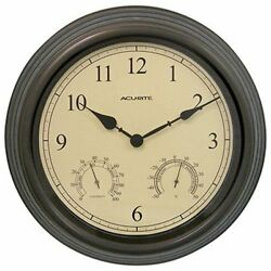 Chaney Accurite 15 Inch Combo Clock w/ Thermometer & Hygrometer