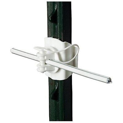 Gallagher G682134 20-Pack T-Post Universal Electric Fence Insulator, White