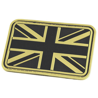 HAZARD 4 UNION JACK UK FLAG MORALE PATCH BRITISH RUBBER BADGE GLOW IN THE DARK