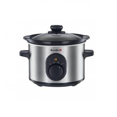 Breville VTP169  Slow Cooker, Crockpot, Schongarer 1,5l, edelstahl, 120W
