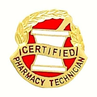 Certified Pharmacy Technician Pin Mortar Pestle Medical Graduation Pins Tech 959
