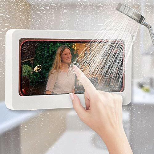 Wall Mounted Phone Case Bathroom Shower Waterproof Holders Kitchen Phone Box