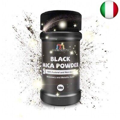 MENNYO Colori per Resina Epossidica, Colorante Candela 50g Colore Nero (Nero)
