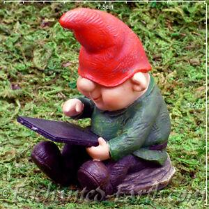 New Vivid Arts Miniature World Plus Size -Fairy Garden Gnome Son - Model Village