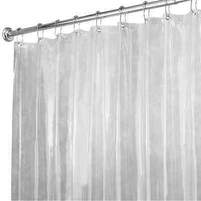 Shower Curtain Liner Clear Vinyl 72 X 96 Bathroom Bathtub