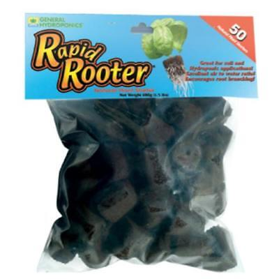 General Hydroponics Rapid Rooter Replacement Plugs 50 Count -gh cloning seed Rapid Rooter Plugs